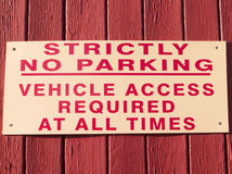 Strictly no parking sign Royalty Free Stock Photo