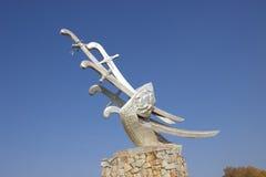 Strid av den Konotop monumentet Arkivbilder