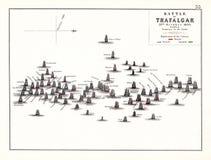 Strid av den Trafalgar eftermiddagen, Oktober 21 1805 stock illustrationer