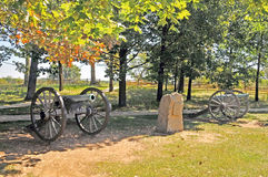 Strid av Gettysburg: Fackligt artilleri Arkivbilder