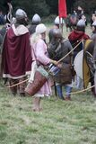 Strid av Hastings Reenactment royaltyfri fotografi