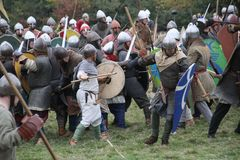 Strid av Hastings Reenactment arkivfoto