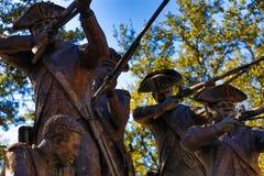 Strid av Savannah Statue Royaltyfri Foto