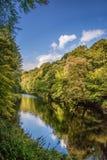Strid del río cerca de la abadía de Bolton en Yorkshire, Inglaterra Fotografía de archivo libre de regalías