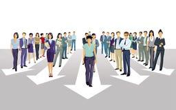 Stride forward direction together. Company-forward stock illustration