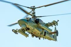 Stridhelikoptrar Ryssland St Petersburg, Juni 2017 Royaltyfri Foto