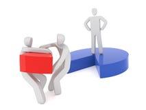 Stridighet för två affärsman för vila av marknadsandelen stock illustrationer