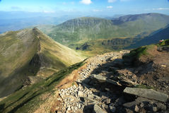 Striding edge. To high street - lake district Stock Images