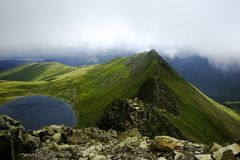 Striding Edge Royalty Free Stock Image