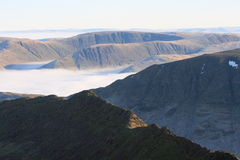 Striding Edge and High Street from Catstye Cam Stock Image