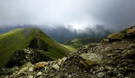 Striding Edge. The track of Striding Edge from Helvellyn Royalty Free Stock Image