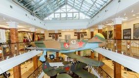 Stridkämpeflygplan av utställningen av det militära historiska museet, Ryssland, Ekaterinburg, 05 03 2016 år Royaltyfri Fotografi
