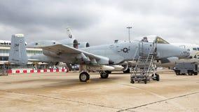 Stridsflygplan för vårtsvin för USA-flygvapen A-10 Arkivfoton