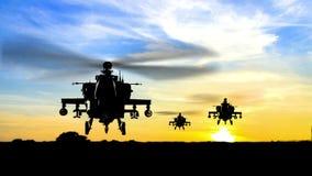 Stridshelikopterhelikoptrar vektor illustrationer