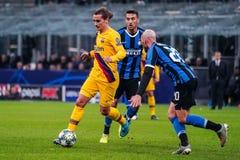 Soccer Champions League Men Championship Tournament Round - Inter vs Barcelona