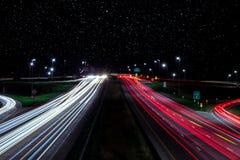 Strie des lumières de voiture Photos stock