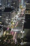 Stries claires d'un dessus de toit en San Diego Downtown photographie stock libre de droits