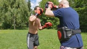 Strijden zonder regel-gemengde vechtsporten opleiding stock videobeelden