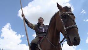Strijder Genghis Khan stock videobeelden