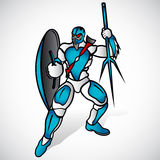 Strijder met spear stock illustratie