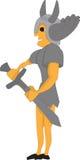 Strijder met zwaard Stock Foto