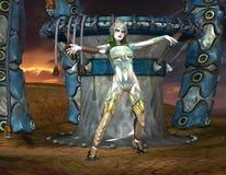 Strijder Princessin in Gotische Blik Royalty-vrije Stock Fotografie