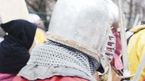 Strijder, ridder, helm, stock footage
