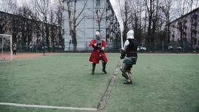 Strijder, ridder, helm, stock video