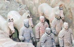 Strijders 3 van het terracotta royalty-vrije stock afbeeldingen