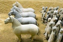 Strijders III van het terracotta Stock Afbeeldingen