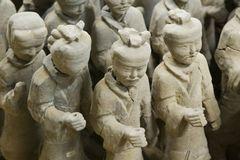 Strijders V van het terracotta Royalty-vrije Stock Foto's