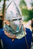 Strijdersdeelnemer van VI festival van middeleeuws Stock Foto's