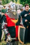 Strijdersdeelnemer van VI festival van middeleeuws Royalty-vrije Stock Foto
