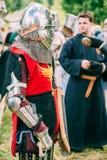 Strijdersdeelnemer van VI festival van middeleeuws Royalty-vrije Stock Afbeelding