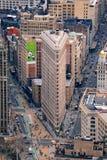 Strijkijzer dat de Stad van Manhattan bouwt New York Stock Foto's