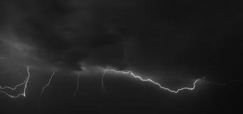 Strike. Lightning strike in the darkness Stock Photo