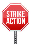 Strike action illustration sign Stock Photo