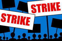 Strike Royalty Free Stock Photo