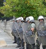 Strike in Athenes. Greece Royalty Free Stock Image