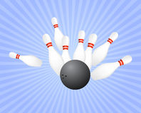 Strike at bowling Stock Photos