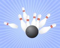 Strike at bowling Stock Photos