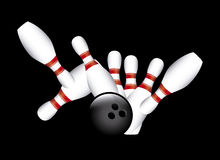 Strike bowling. Over black background vector illustration Royalty Free Stock Photography