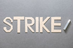 Strike in the educational sector Stock Photos
