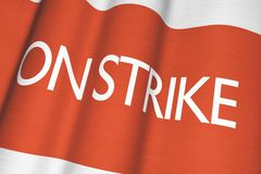 On Strike Flag Concept Stock Image