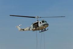Strike force  on helicopter Royalty Free Stock Photos