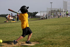 Strike at home plate royalty free stock photos