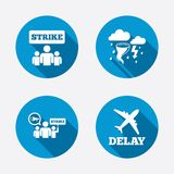 Strike icon. Storm weather and group of people Royalty Free Stock Photo