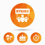 Strike icon. Storm weather and group of people. Royalty Free Stock Photography