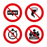 Strike icon. Storm weather and group of people Stock Photo