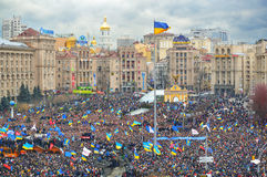 Strike on the Independence square in Kiev Royalty Free Stock Images